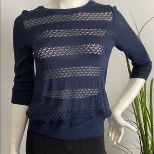 Banana Republic Navy Blue Knitted Top
